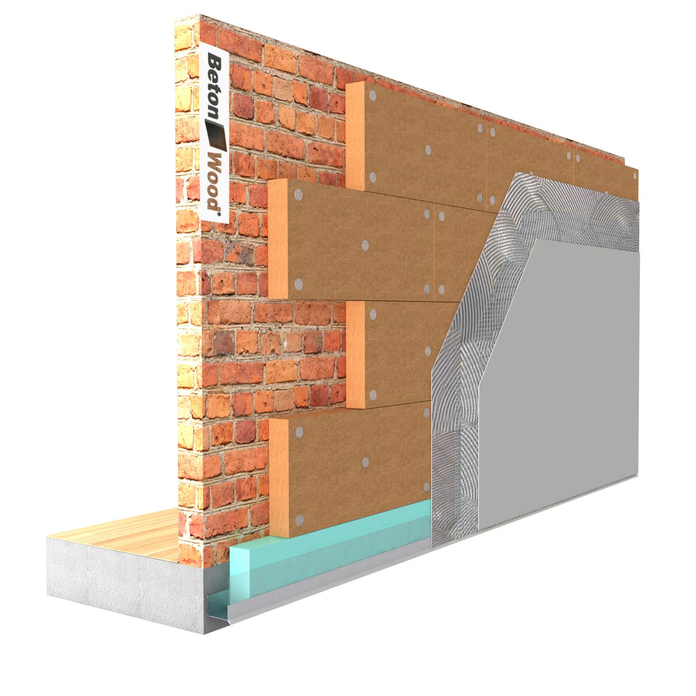 External thermal insulation system in Protect Wood fiber